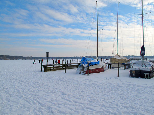 Frozen Wannsee, Berlin (Germany)