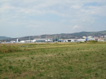 Airport Sarajevo viewed from the Tunnel
