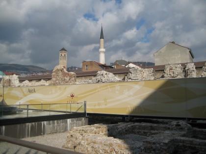 Escavations next to Hotel Evropa in Sarajevo