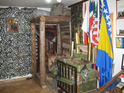 Exhibition in the museum of the Tunnel in Sarajevo