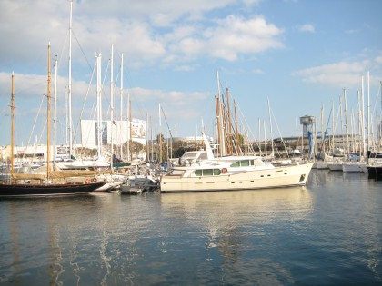 Boats at the port of Barcelona