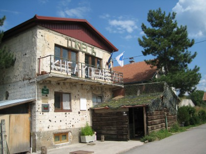 House in front of the Tunnel in Sarajevo