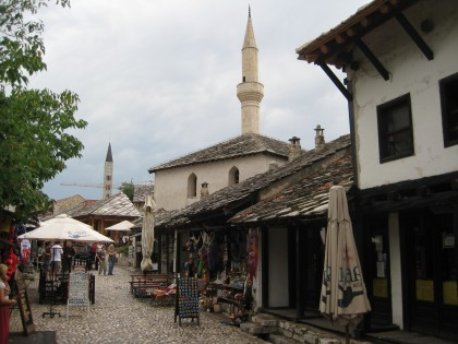 The old town of Mostar is a big tourist attraction nowadays