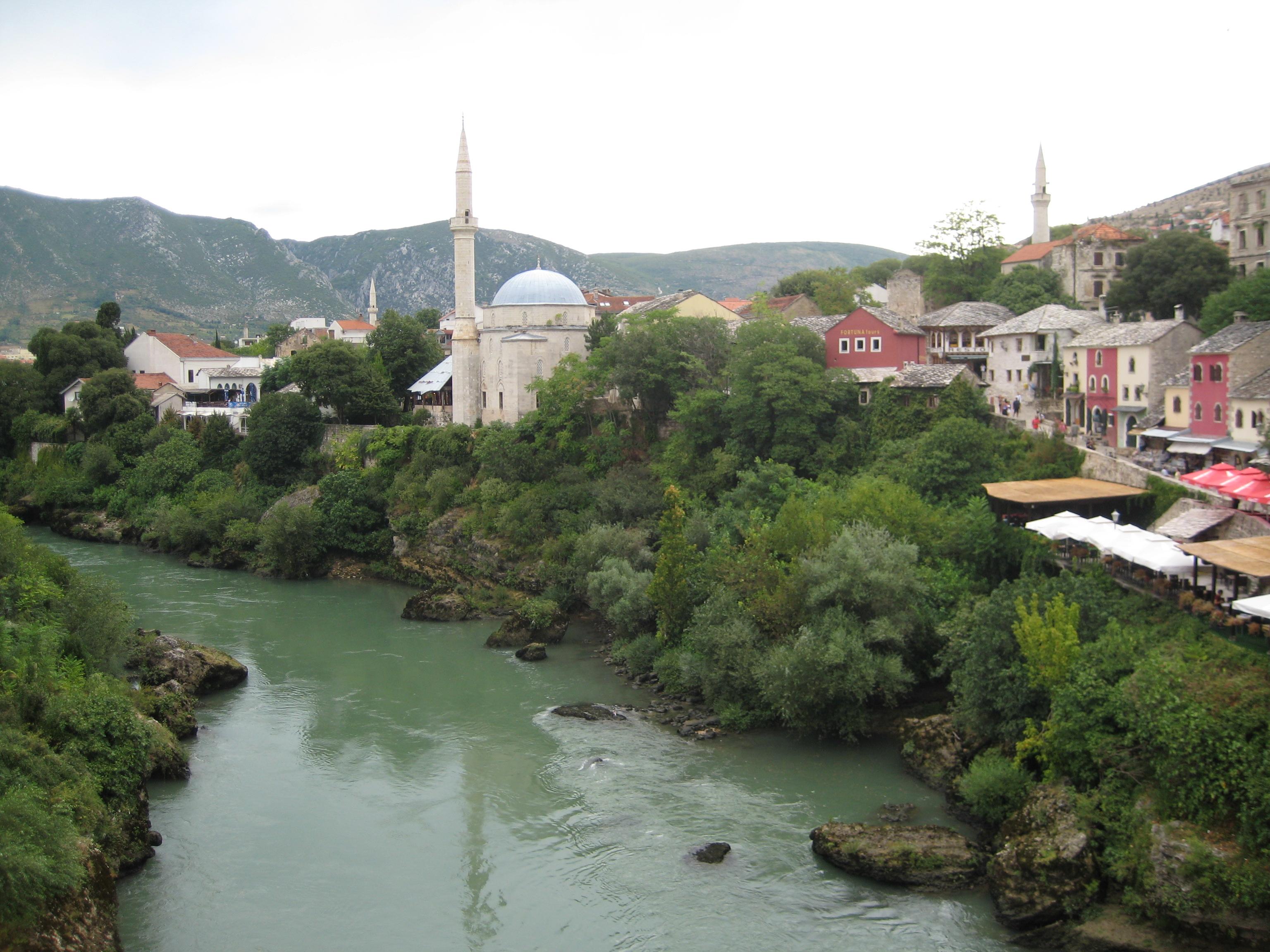 Neretva river in Mostar