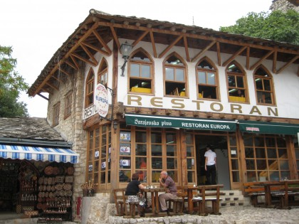 Traditional restaurant in Mostar