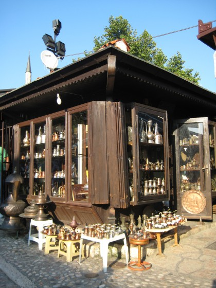 A small shop selling cuttlery in old Sarajevo